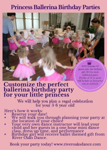 Princess BallerinasBirthday Parties